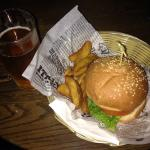 Burger and cider combo! Bargain and delicious