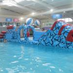 Fantastic pool complex and inflatable play session