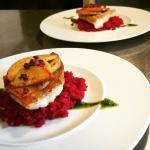 Zander/Rote-Beete-Couscous/Rauke