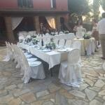 wedding meal before guests arrived