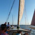 Sailboat sunset cruise on Roanoke Sound