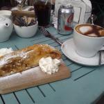 Apple Strudel and Cappuccino
