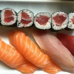 sushi with tuna roll
