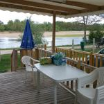 View of river Loire from decking