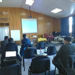 el salón de reuniones