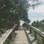 Passerelle vers la plage