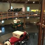 Inside the antique auto building