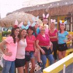 The waitstaff gals at Beach Shanty South - Easter, they were not posing for Playboy Magazine.