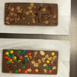 Custom made chocolate bars.