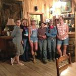 Last night at the dude ranch, the 2 young ladies in the jeans we're the wranglers on the ranch.