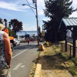 Amy Jo's, off to the ferry.  View of Osborne Bay, and Crofton Art project