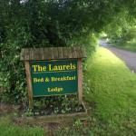Sign at the entrance to The Laurels