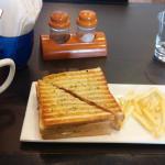 Veg Soup, Club Sandwich and fires