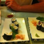 Sushi with tamaro (egg)