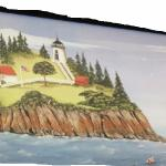 Painting of the lighthouse on display at the store
