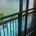 View from our room from 3rd floor.  Pool & Lake view.