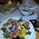 Una de las comidas del restaurante del hotel