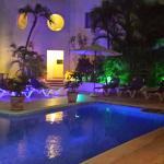 pool sight at night