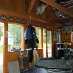 Inside the musher's studio