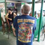 George the owner shows off his T-shirt