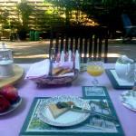 La colazione dei campioni in giardino