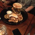 Massive burgers and curly fries