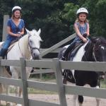My daughter & granddaughter riding.