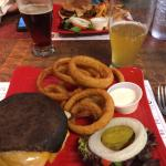 Huge homemade burgers and local beer!