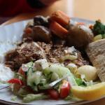 das köstliche Abendessen - Fisch