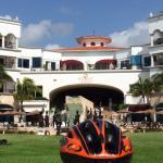 View fom swimming pool  lobby