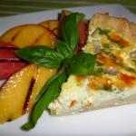 Vegetable Quiche with Grilled Peaches & Watermelon