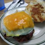Village idiot breakfast sandwich and Tuscan turkey panini