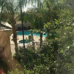 View of the pool from my window