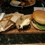 Cheesebuurger £11.75. Nothing special. Fries served in ridiculous brown paper bag!
