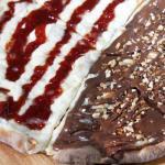 Metade Romeu e Julieta e chocolate com castanhas
