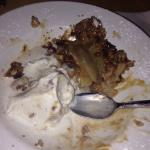 Got it like less then 5 minutes ago and Chef Barbs HOME MADE APPLE CRISP WITH GELATO AND HOMEMAD