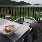 Dessert and wine overlooking the Loch
