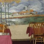 One of the murals in the dining room