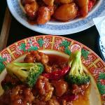 General tso chicken and sweet and sour pork