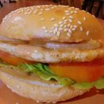 The yum yum chicken burger.