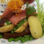 Kartoffelmad med nye Alrø kartofler og sydfynsk landskinke