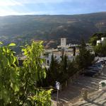 Blick vom Balkon Richtung Dorf