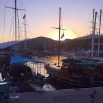 Sunset over Kalkan harbour.