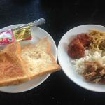 My breakfast, thai food taste nice.