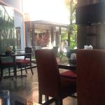 place to have breakfast at first floor next to swimming pool