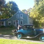 Out for a spin at the Truman Gillet House B & B in a Ford Model A