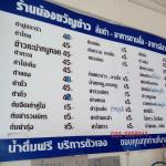 Thai menu for cheap Isan Food in cafe nearby
