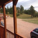 View from the front of our cabin