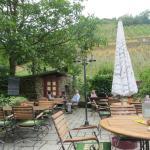 Outdoor terrace in their vineyards