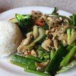 Sauteed Chicken with Mixed Fresh Vegetables